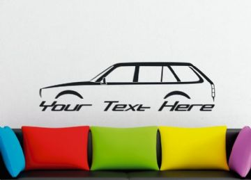 Large Custom car silhouette wall sticker -for Honda Civic station wagon , 2nd gen 1980-1983 | retro